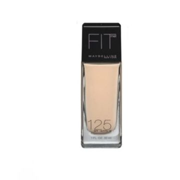 Maybelline Fit Me Liquid Foundation -125 N.Beige & Free Blending Sponge - 1118