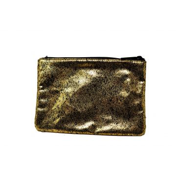 Bare Minerals Black And Gold Spotted Pouch Bag