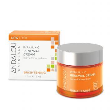 Andalou Naturals (Brightening) Probiotic + C Renewal Cream - 50g