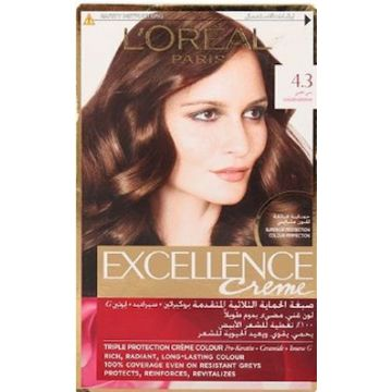 L`Oreal Excllence 4.3 Golden Brown - 8