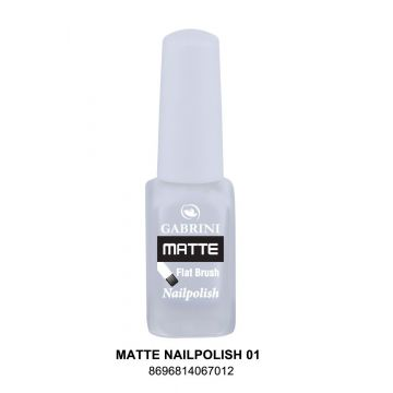 Gabrini Matte Nail Polish # 01 13gm - 10-21-00001 - J4g