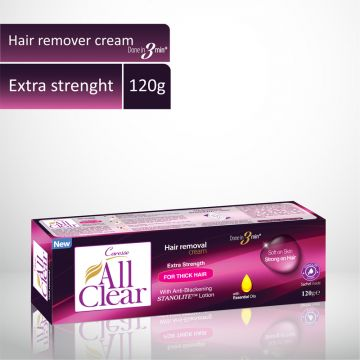 Caresse All Clear Hair Remover Cream (Extra Strength) - 120gm
