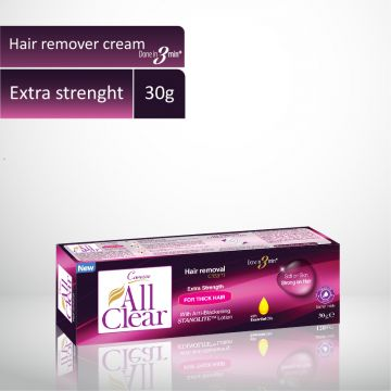 Caresse All Clear Hair Remover Cream (Extra Strength) - 30gm