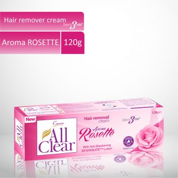 Caresse All Clear Hair Remover Cream (Rosette) - 120gm