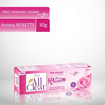 Caresse All Clear Hair Remover Cream (Rosette) - 30gm