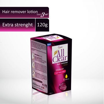Caresse All Clear Hair Remover Lotion Large (Extra Strength) - 120gm