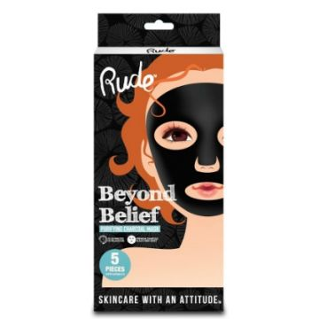 Rude Beyond Belief Charcoal Face Mask (Pack-5PCS) - 87869-PDB