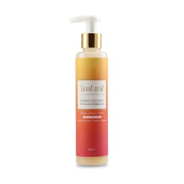 Bnatural Face Wash With Turmeric Root Oil & Raw Sidr Honey - 200ml