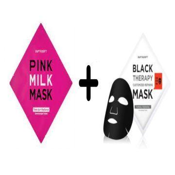 Duft & Doft Pink Milk Mask + Duft & Doft Black Therapy Customized Refining Mask