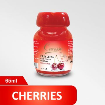 Caresse Easy Clean Nail Polish Remover – Cherries - 65ml