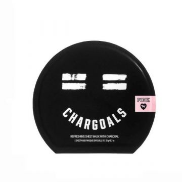 PINK Chargoals Refreshing Sheet Mask With Charcoal - 20g/0.7 oz