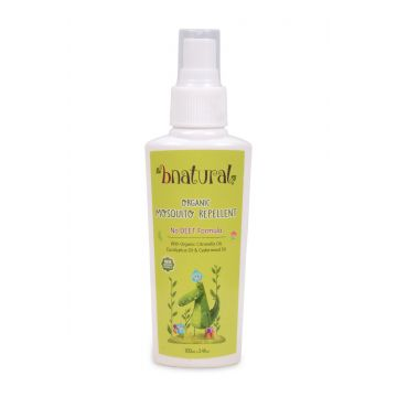 Bnatural Mosquito Repellent With Organic Citronella, Eucalyptus and Cedarwood Oil - 100ml