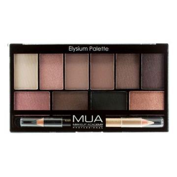 MUA Eyeshadow 10 Pro Palette - Elysium - 5055402971842