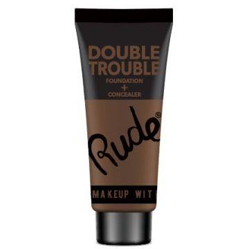 Rude Double Trouble Foundation + Concealer - 87934 Espresso