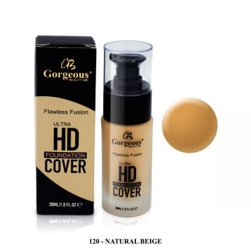 Gorgeous HD Foundation - 120 Natural Beige