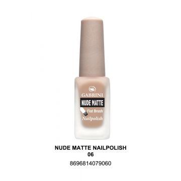 Gabrini Nude Matte Nail Polish # 06 13gm - j4g