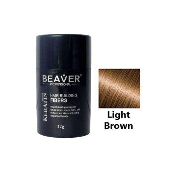 Beaver Hair Building Fiber Light Brown - 12gm - HBFLB01