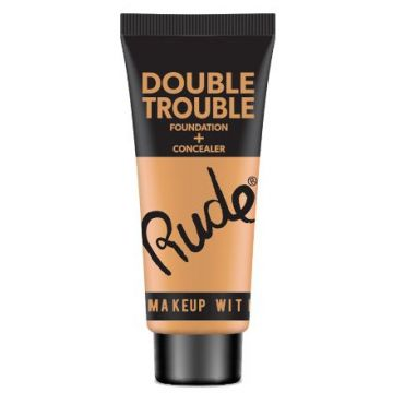Rude Double Trouble Foundation + Concealer - 87935 Ivory