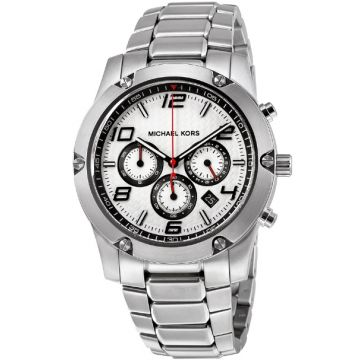 Michael Kors MK8472 Caine Silver Dial Chronograph Stainless Steel Men's Watch
