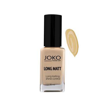 JOKO Makeup Long Matt Foundation - Dark Beige - NJPO10068-B