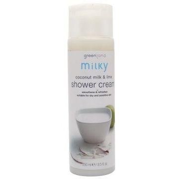 Greenland Bodycare Milky Shower Cream Coconut Milk - Lime - 250Ml - MY0012