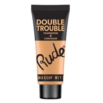 Rude DOUBLE TROUBLE Foundation + Concealer - 87931 Linen