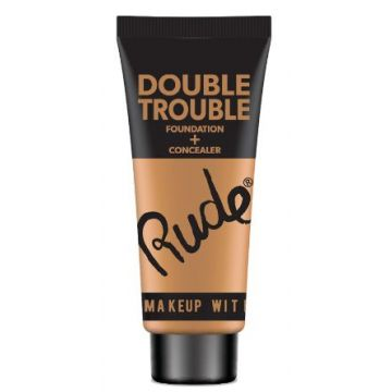 Rude Double Trouble Foundation + Concealer - 87936 Natural