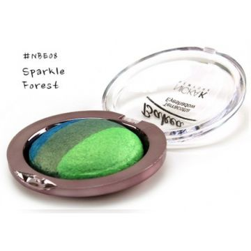Nicka K Baked Terracotta Eyeshadow - NBE08 Sparkle Forest