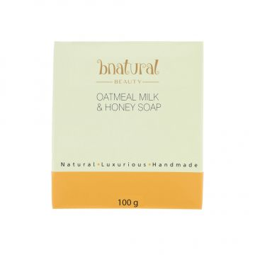 Bnatural Oatmeal Milk & Honey Soap With Coconut Oil & Shea Butter - 100g