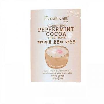 The Creme Shop Clarifying Peppermint Cocoa Sheet Mask