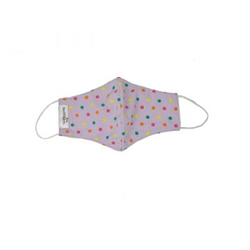 Pink Polka Dotted Cloth Fabric Face Mask