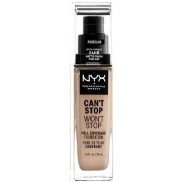 Nyx Can't Stop, Won't Stop Foundation - Porcelain