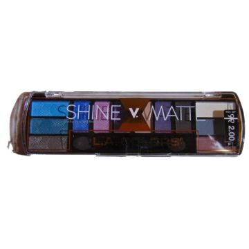 LA Colors Shine V Matte 12 Color Eyeshadow Palette - Prima Donna