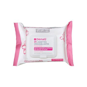 Evoluderm Make Up Remover Wipes All Skin Types - 25pcs