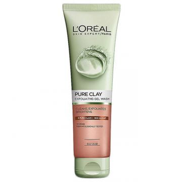 L'Oreal Pure Clay Red Algae Exfoliating Face Wash - Red - 130ml - US