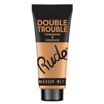 Rude Double Trouble Foundation + Concealer - 87938 Tan - J4g