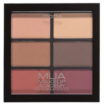 MUA Professional 6 Shade Eyeshadow Palette - Scorched Marvels