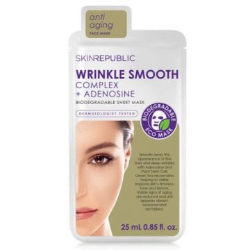 Skin Republic Wrinkle Smooth Complex + Adenosine Biodegradable Sheet Mask - 8809313490889.00