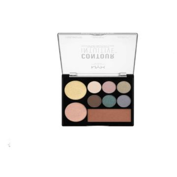 NYX Contour Intuitive Eye and Face Sculpting Palette - Smoke & Pearls - CIP05 - US