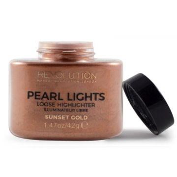 Makeup Revolution Pearl Lights Loose Highlighter - Sunset Gold