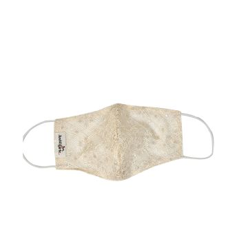 White Net Cloth Face Mask