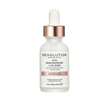 Makeup Revolution Skincare 10% Niacinamide + 1% Zinc Blemish & Pore Refining Serum 30ml